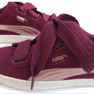 812f67d4ceb9 Puma Shoes   Host Pick Suede Burgundy Rose Gold   Poshmark